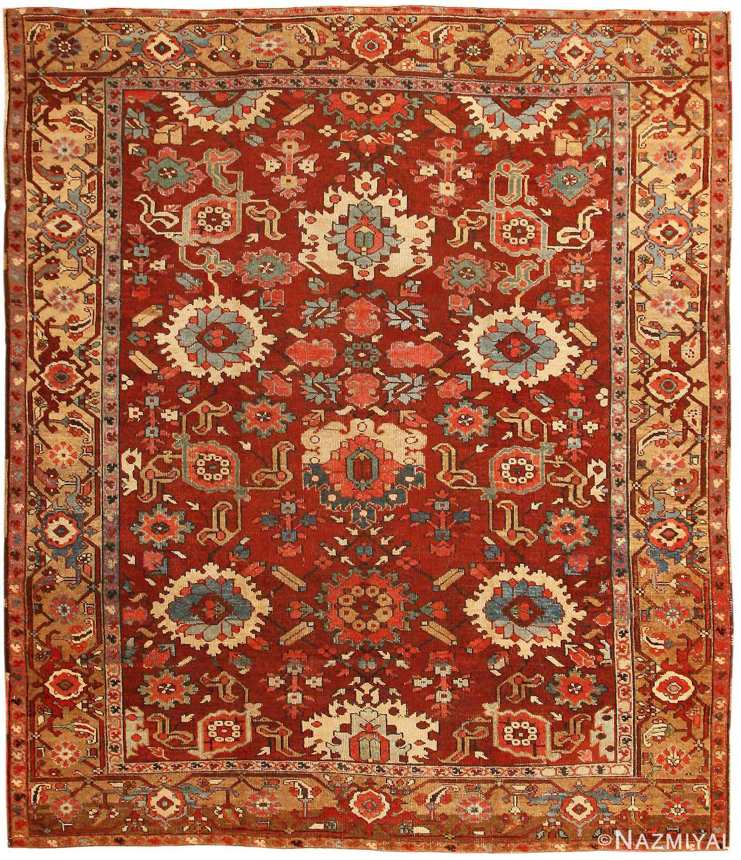 Vintage Persian Rugs: Antique Serapi Rug 43451 By Nazmiyal
