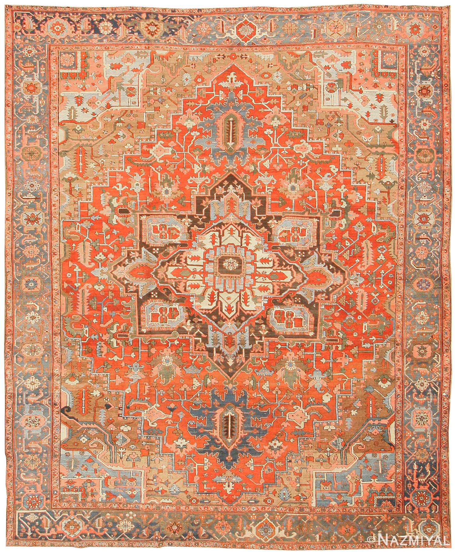 Antique Heriz Persian Rugs 43346 Nazmiyal