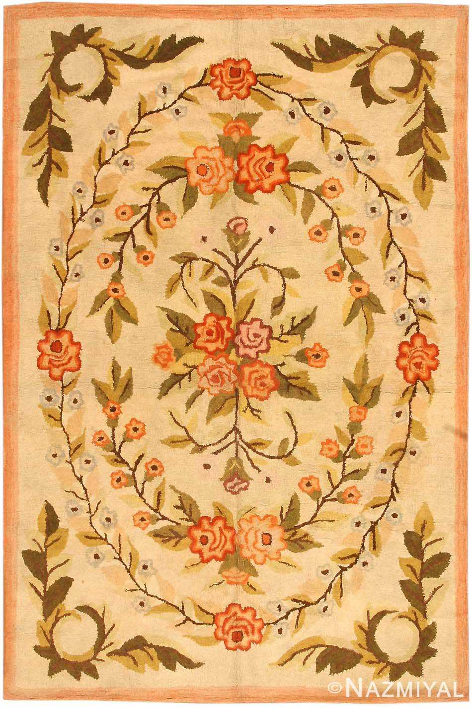 Antique Hooked American Rug 2454 Nazmiyal