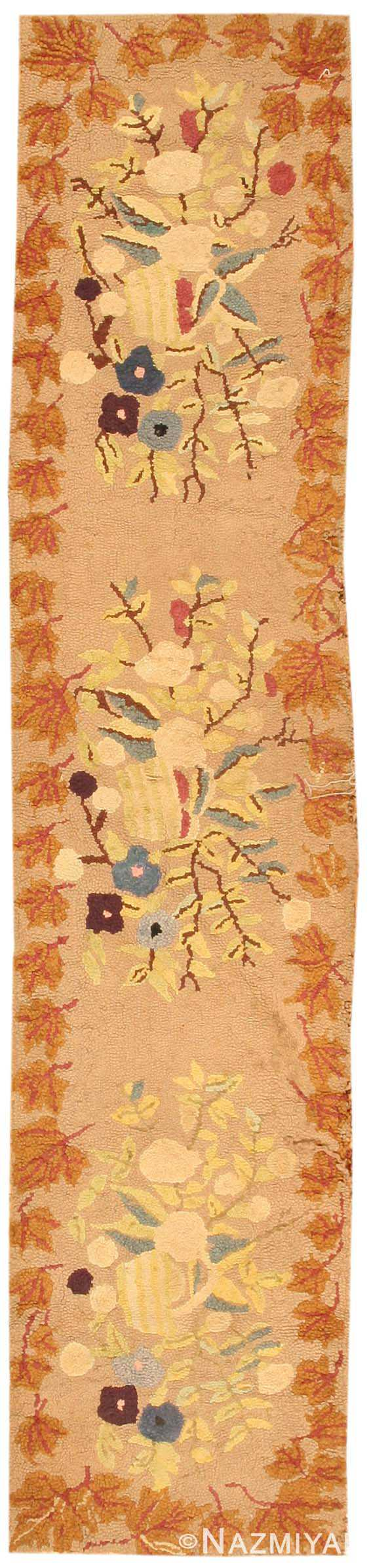 Antique Hooked American Rug 2510 Nazmiyal