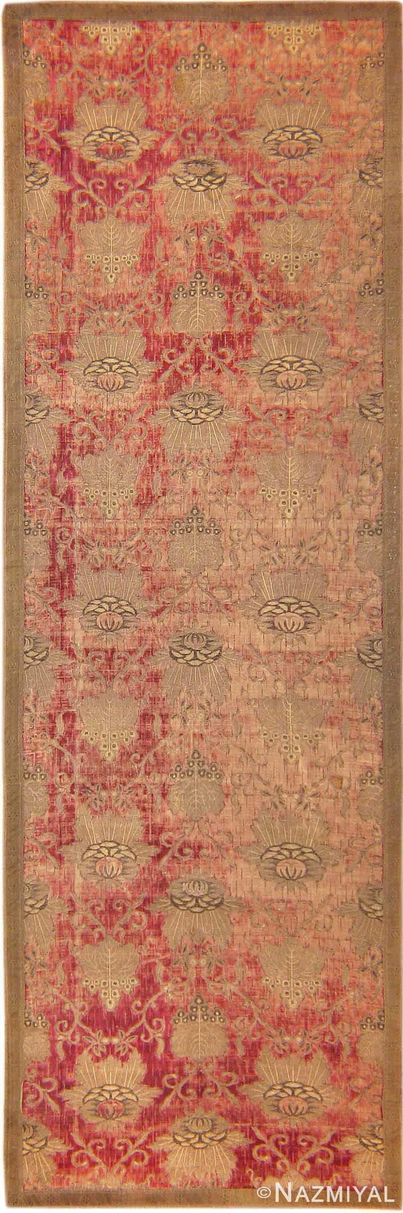 Antique Velvet Italian Textile 41961 Nazmiyal