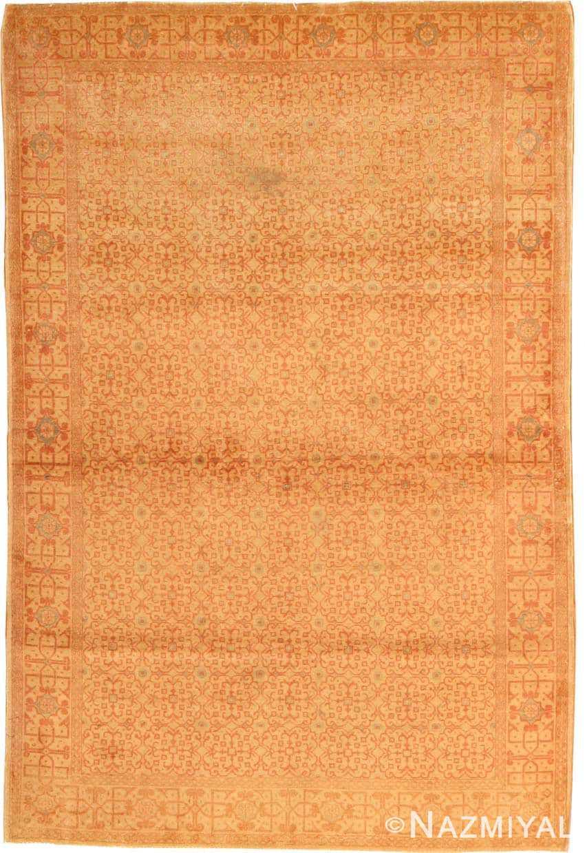 Antique Kashan Persian Rug 977 Nazmiyal