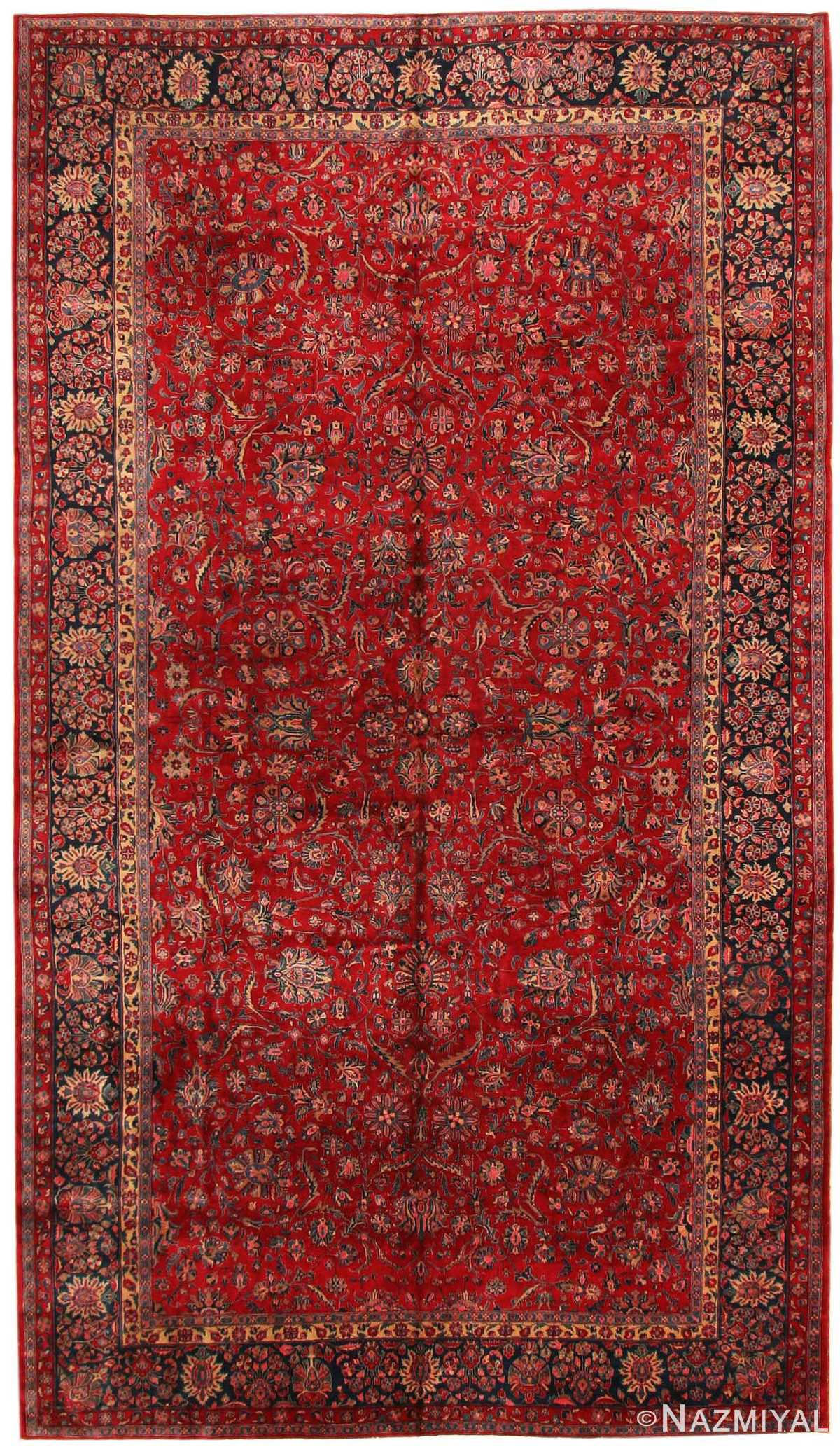 Antique Kashan Persian Rug 43573 Nazmiyal Collection