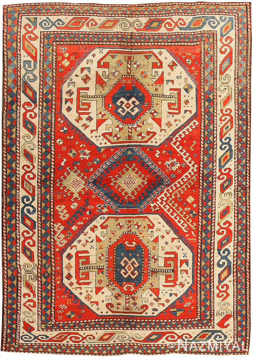 Antique Caucasian Kazak Rug 43276
