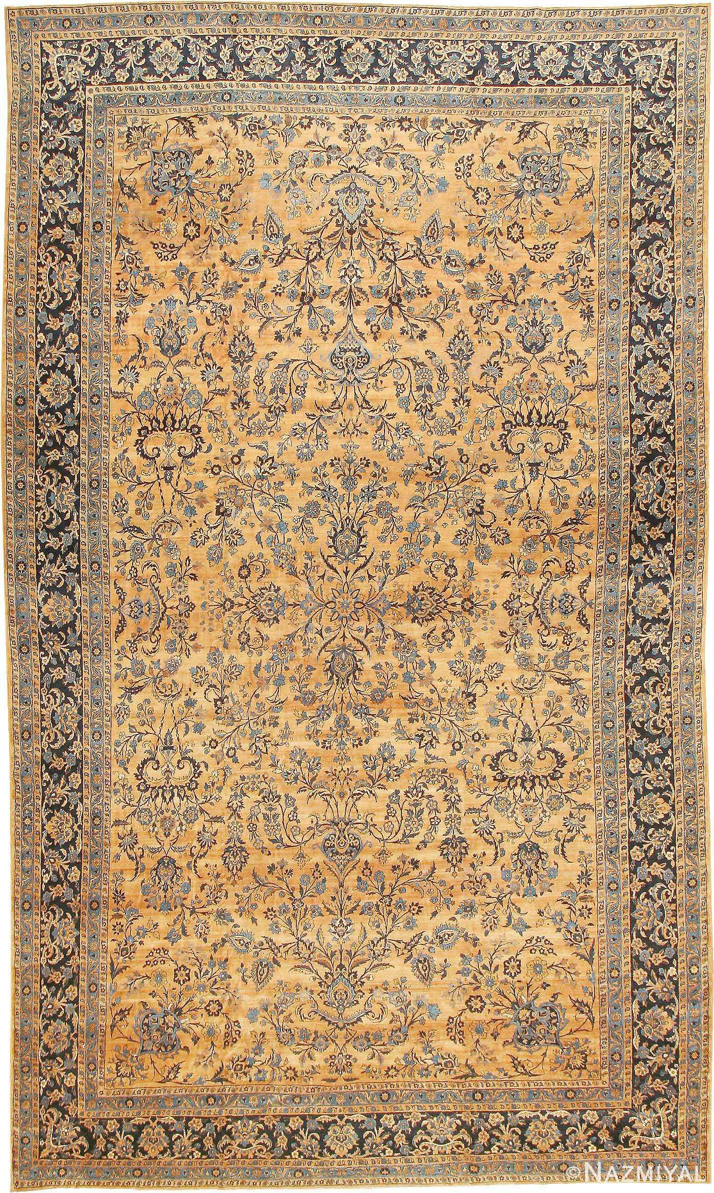 Antique Kerman Persian Rug 42101 Nazmiyal