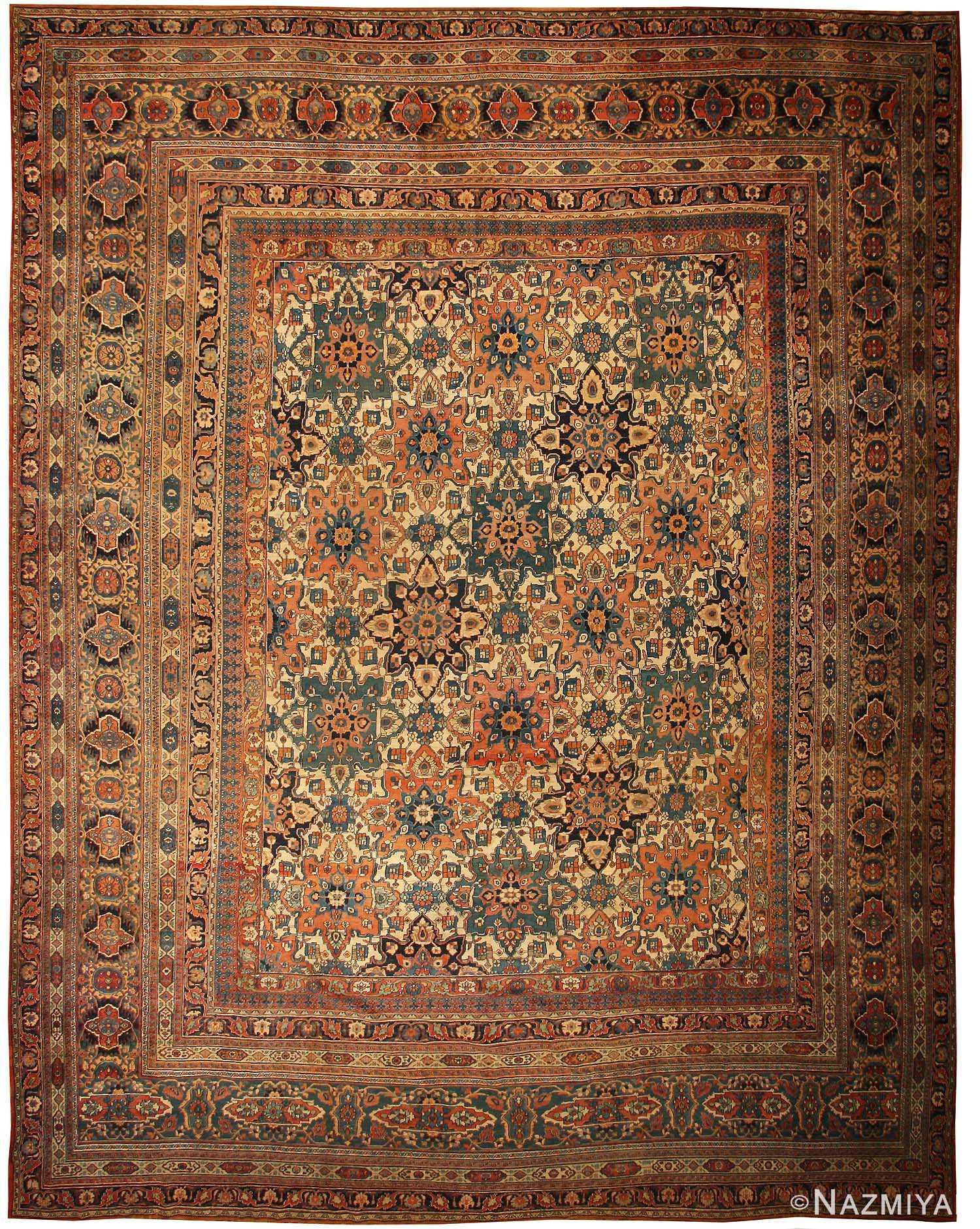 Antique Khorassan Persian Rug Carpet 44046 Nazmiyal