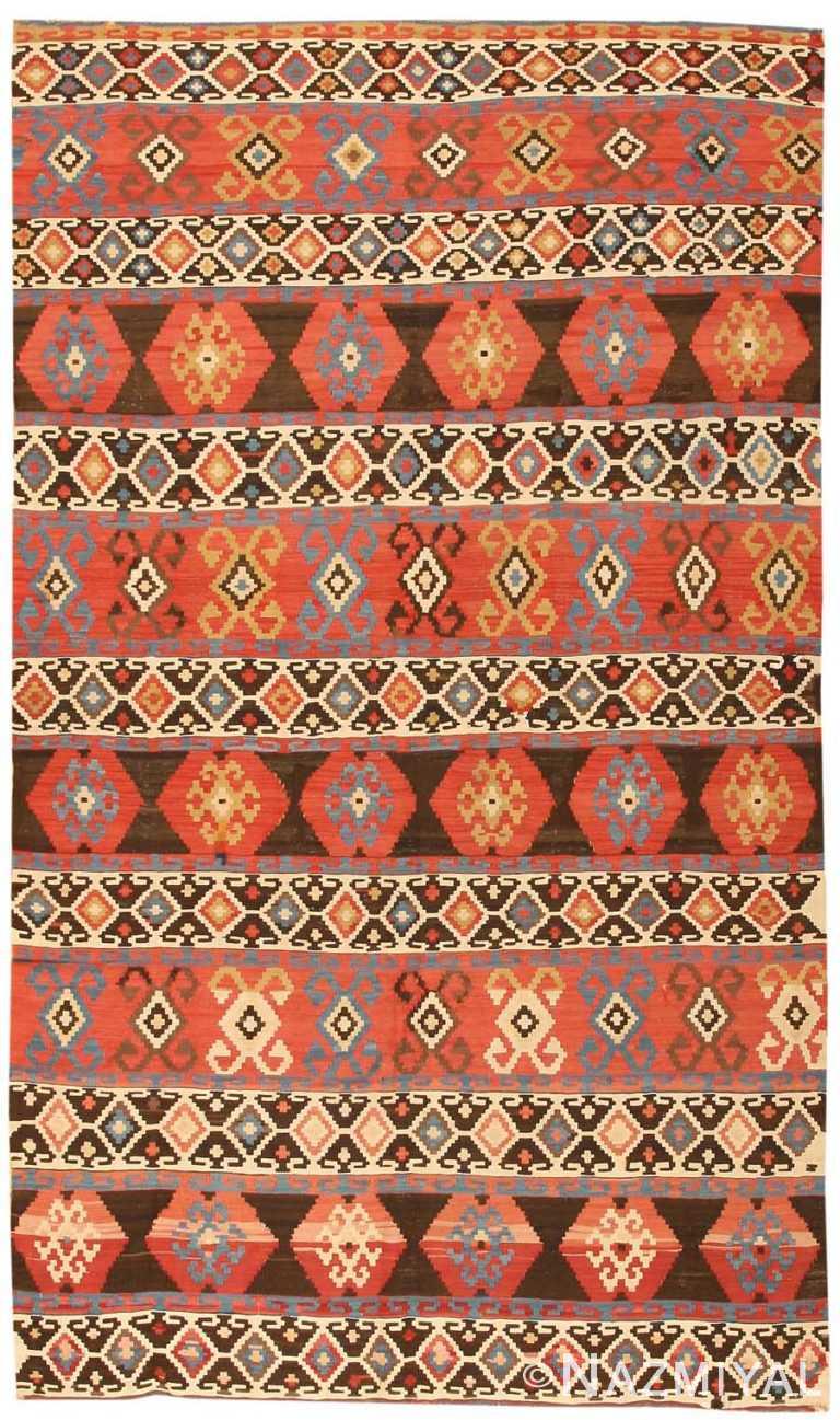 Antique Kilim Caucasian Carpet 43798 Nazmiyal