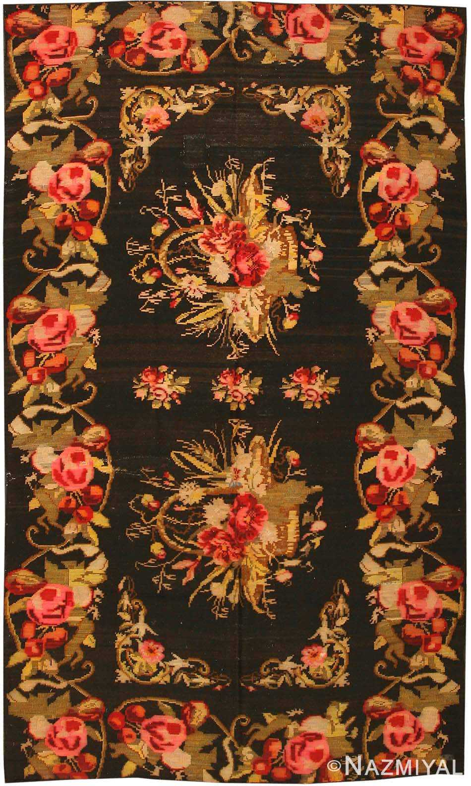 Antique Kilim Persian Carpet 43810 Nazmiyal