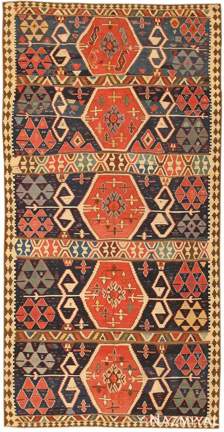 Antique Kilim Persian Carpet 43814 Nazmiyal