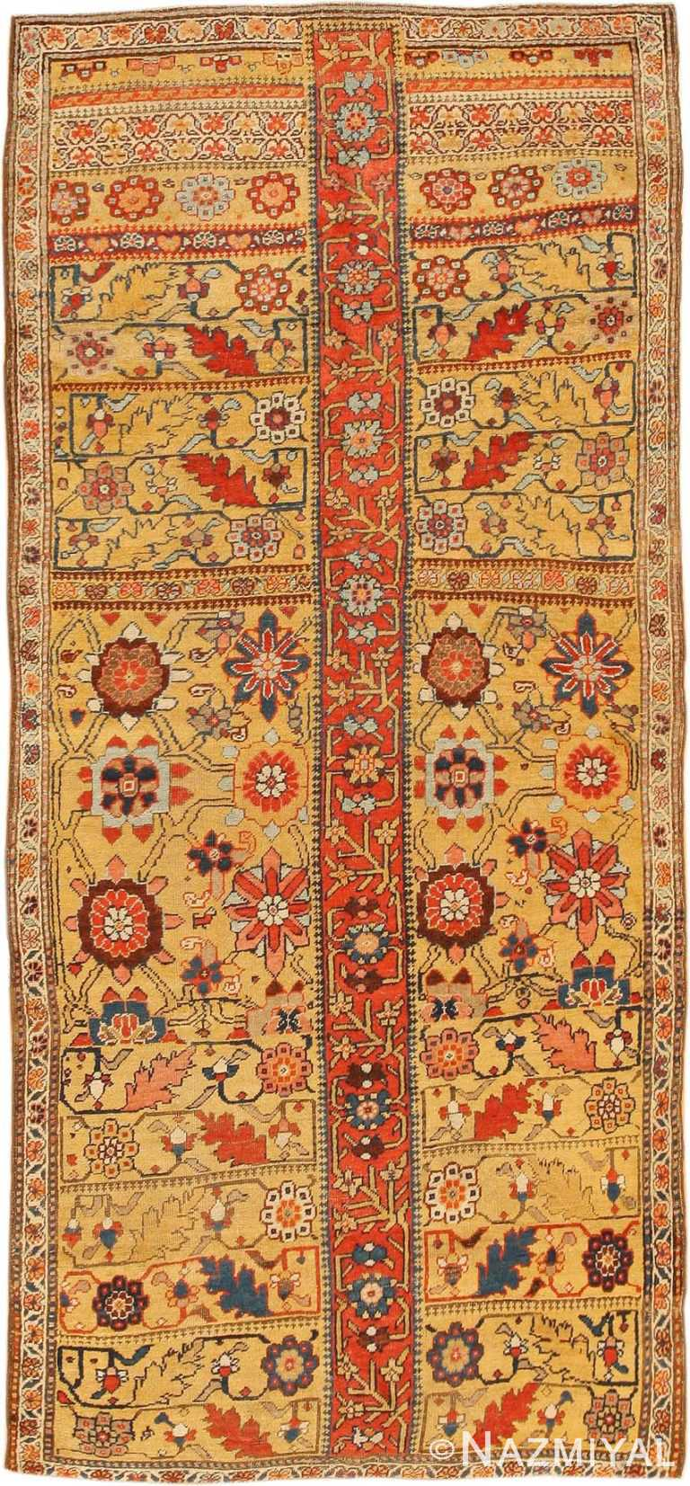 Antique Kurdish Bidjar Persian Sampler Rug 40485 Nazmiyal