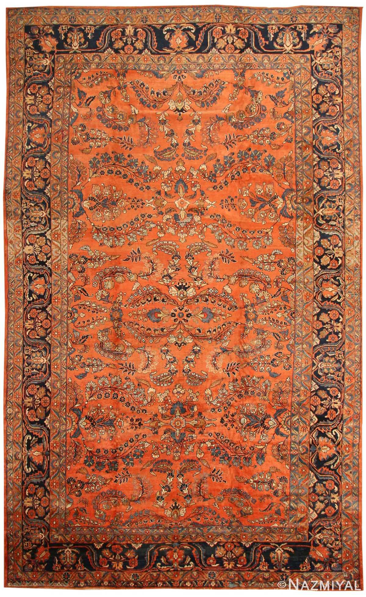 Antique Sultanabad Persian Carpet 40470 Nazmiyal