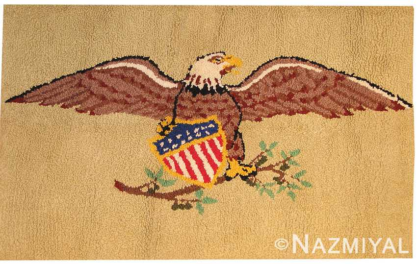 Antique Hooked American Rug 41024 Nazmiyal