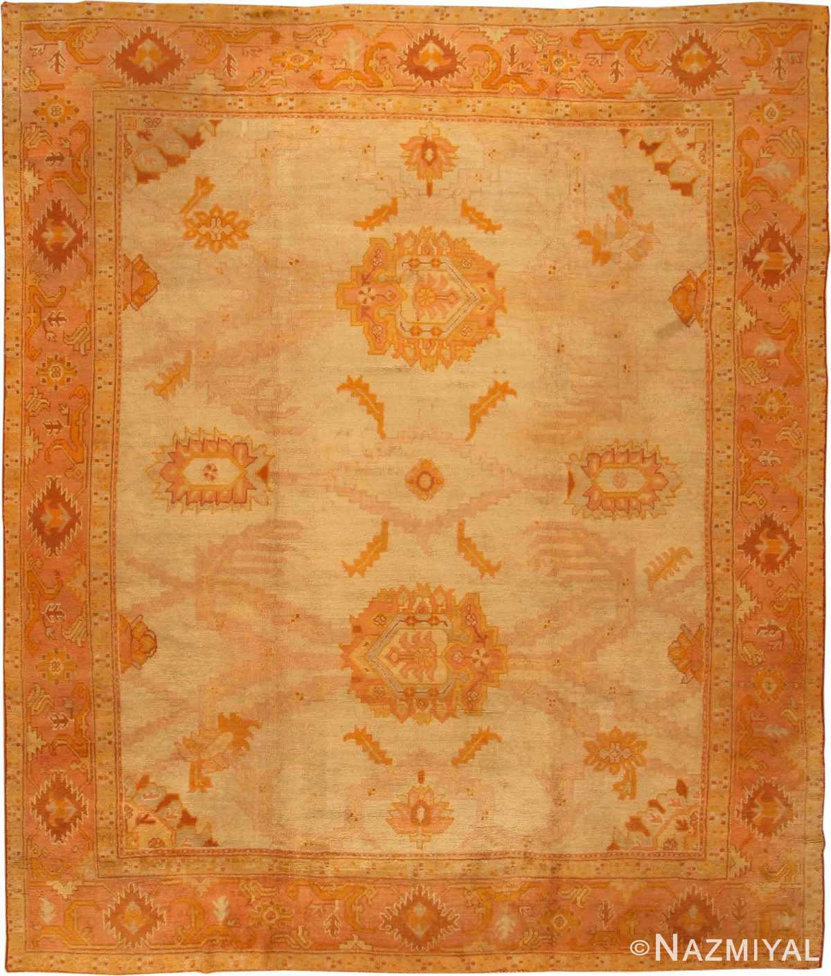 Antique Oushak Turkish Rug 2708 Nazmiyal