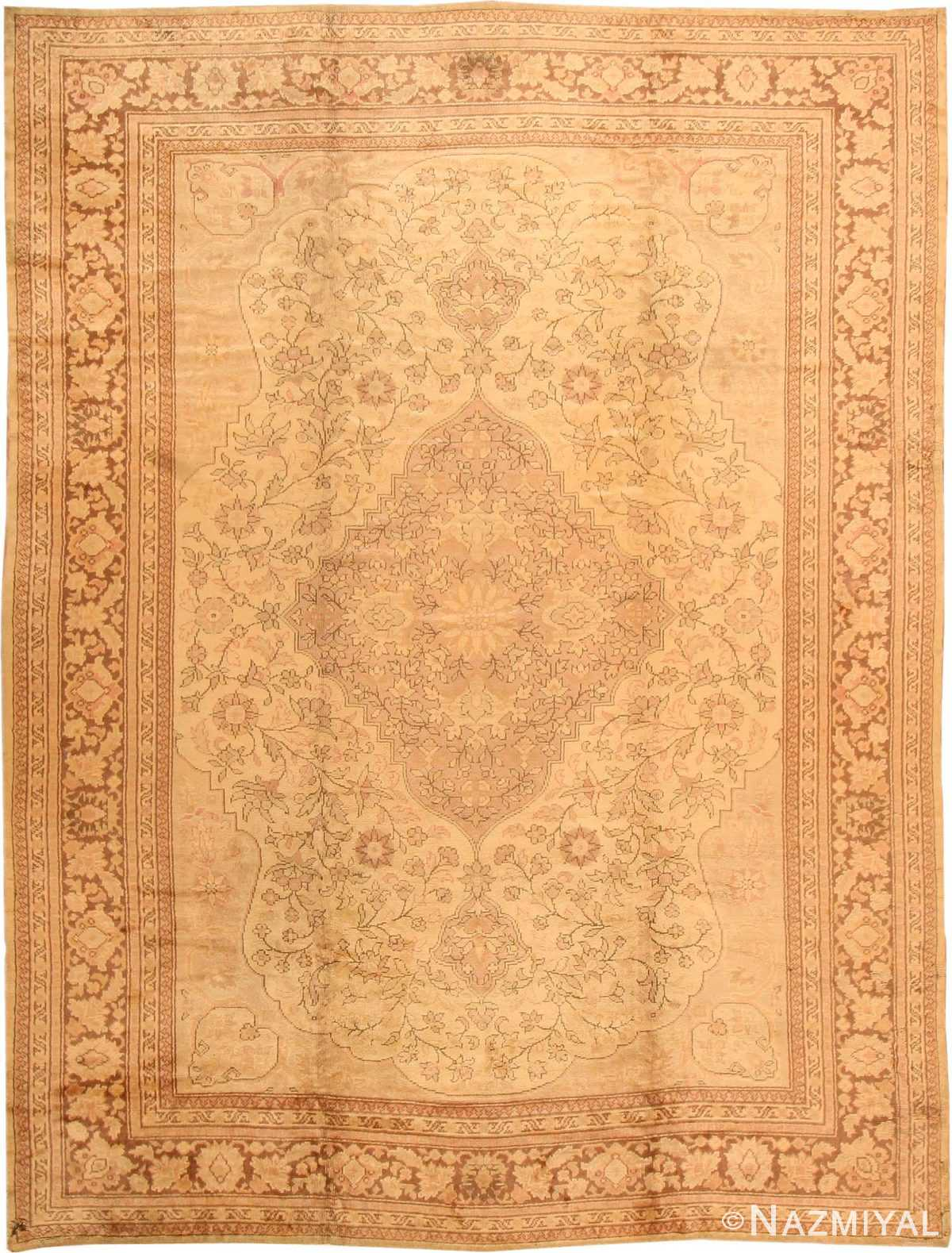 Antique Oushak Turkish Rug 2675 Nazmiyal