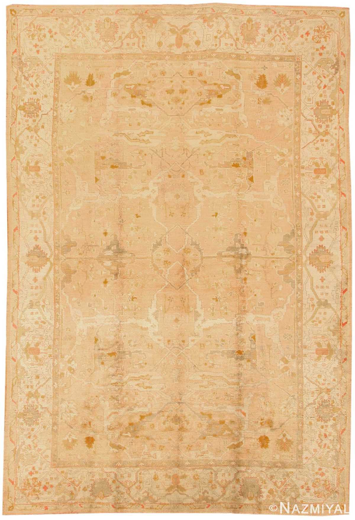 Antique Oushak Turkish Rug 43364 Nazmiyal