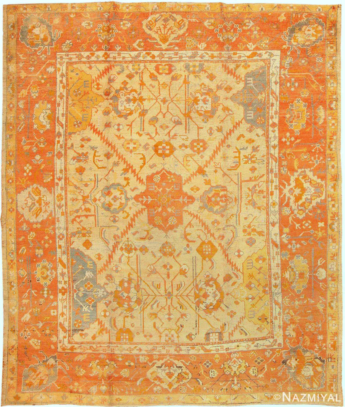Antique Oushak Turkish Rug 3040
