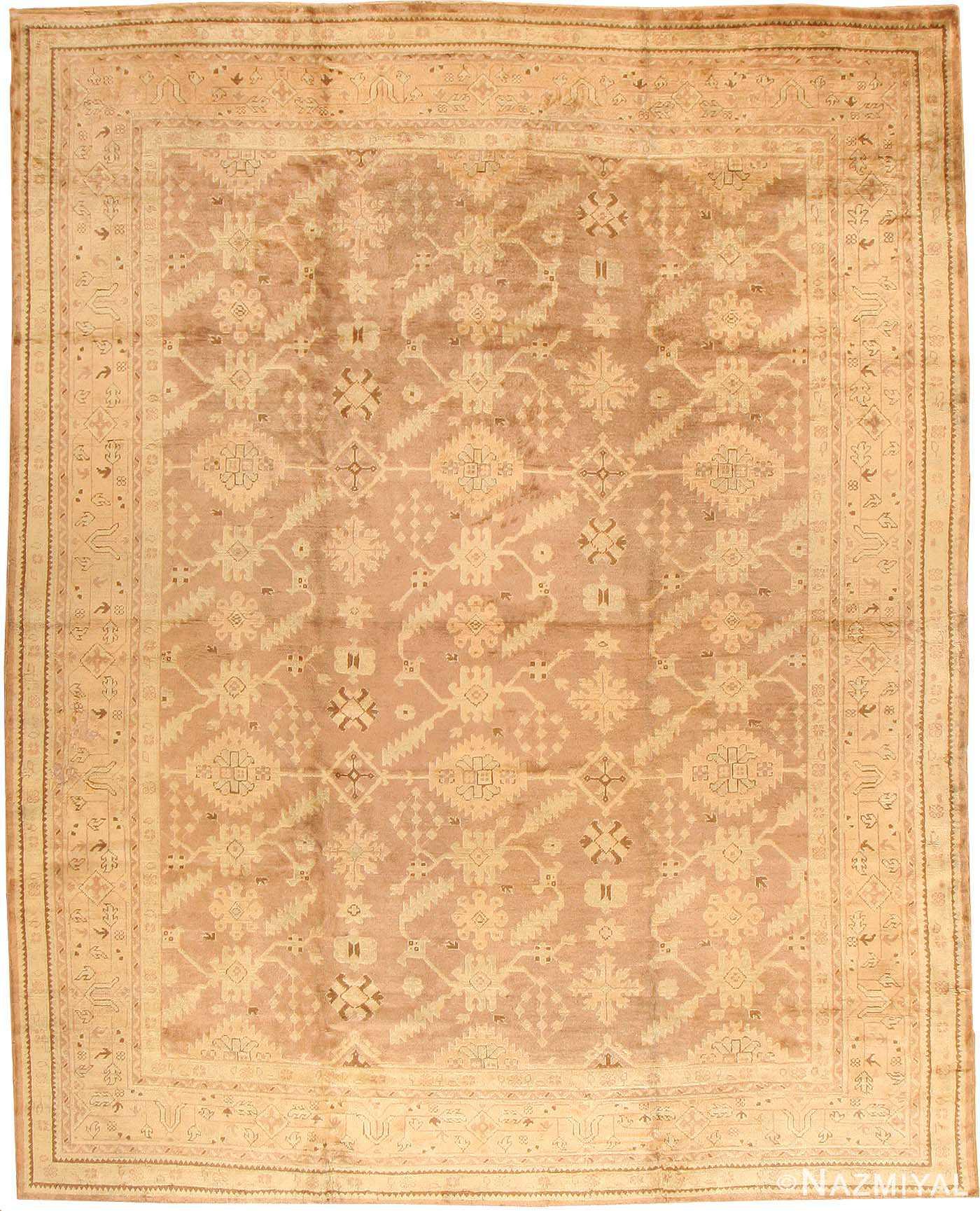 Antique Oushak Turkish Rug 42091 Nazmiyal