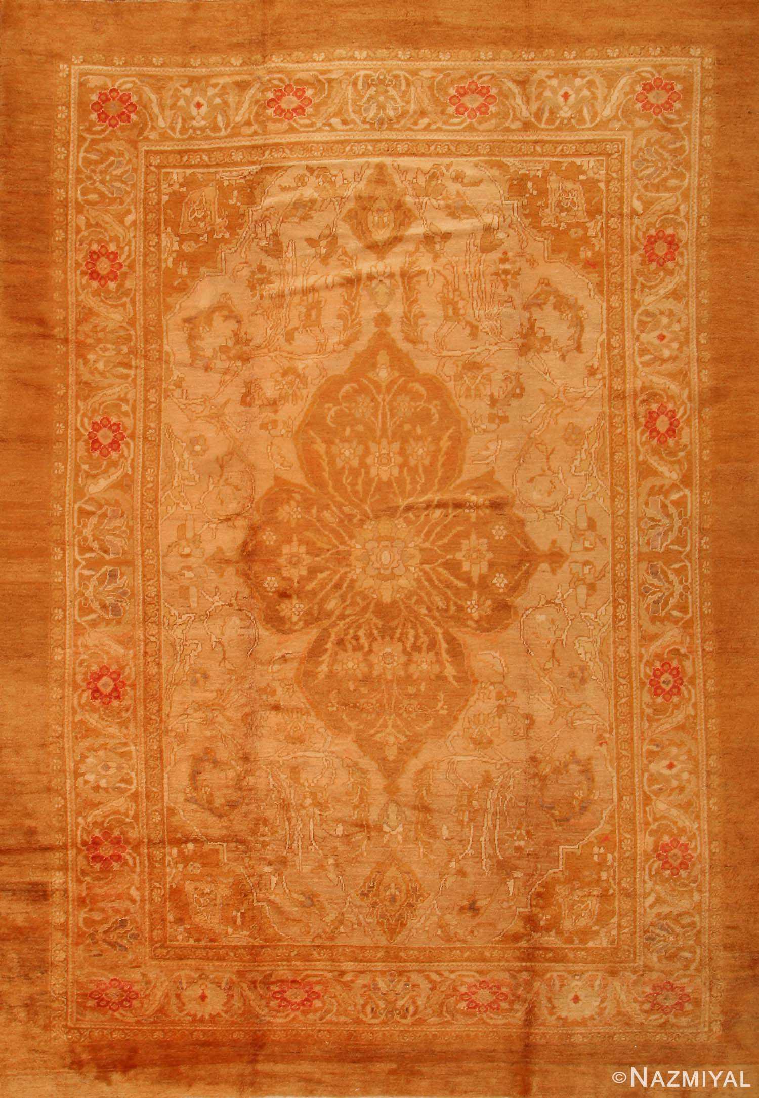 Antique Oushak Turkish Rugs # 1500 Nazmiyal