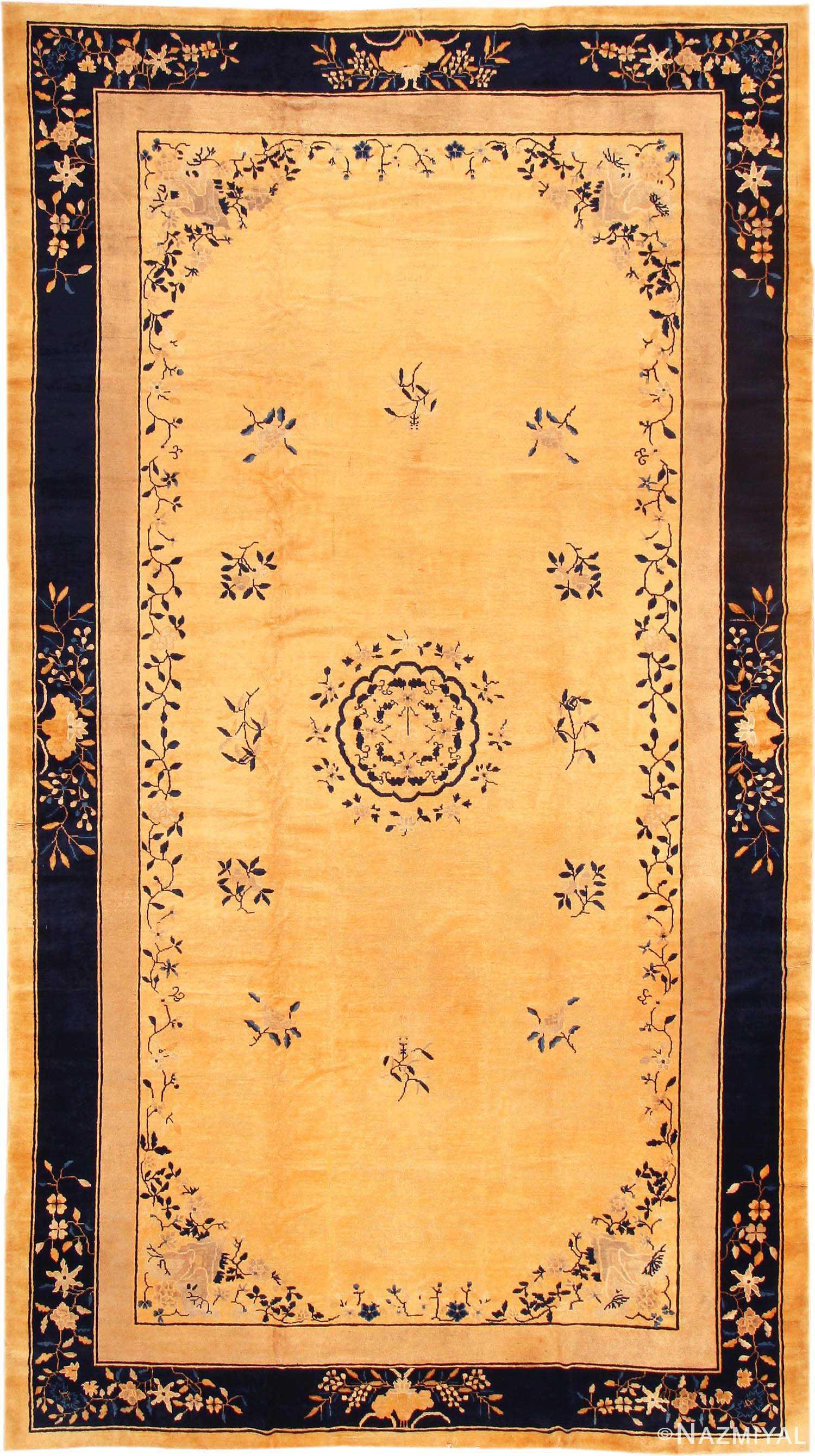 Antique Chinese Peking Carpet 1965 By Nazmiyal