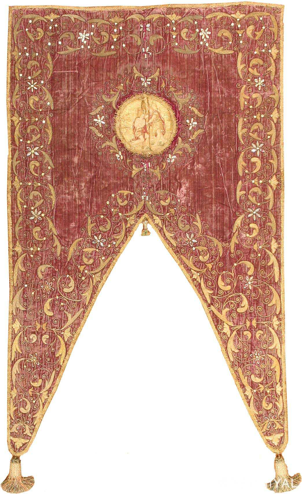 Antique European Embroidery Rug 3391 Nazmiyal