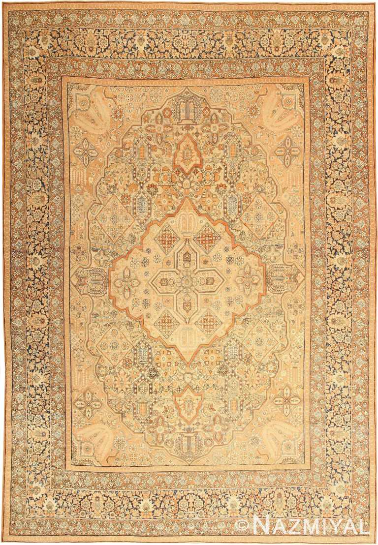Antique Kerman Persian Rug 42611 Nazmiyal