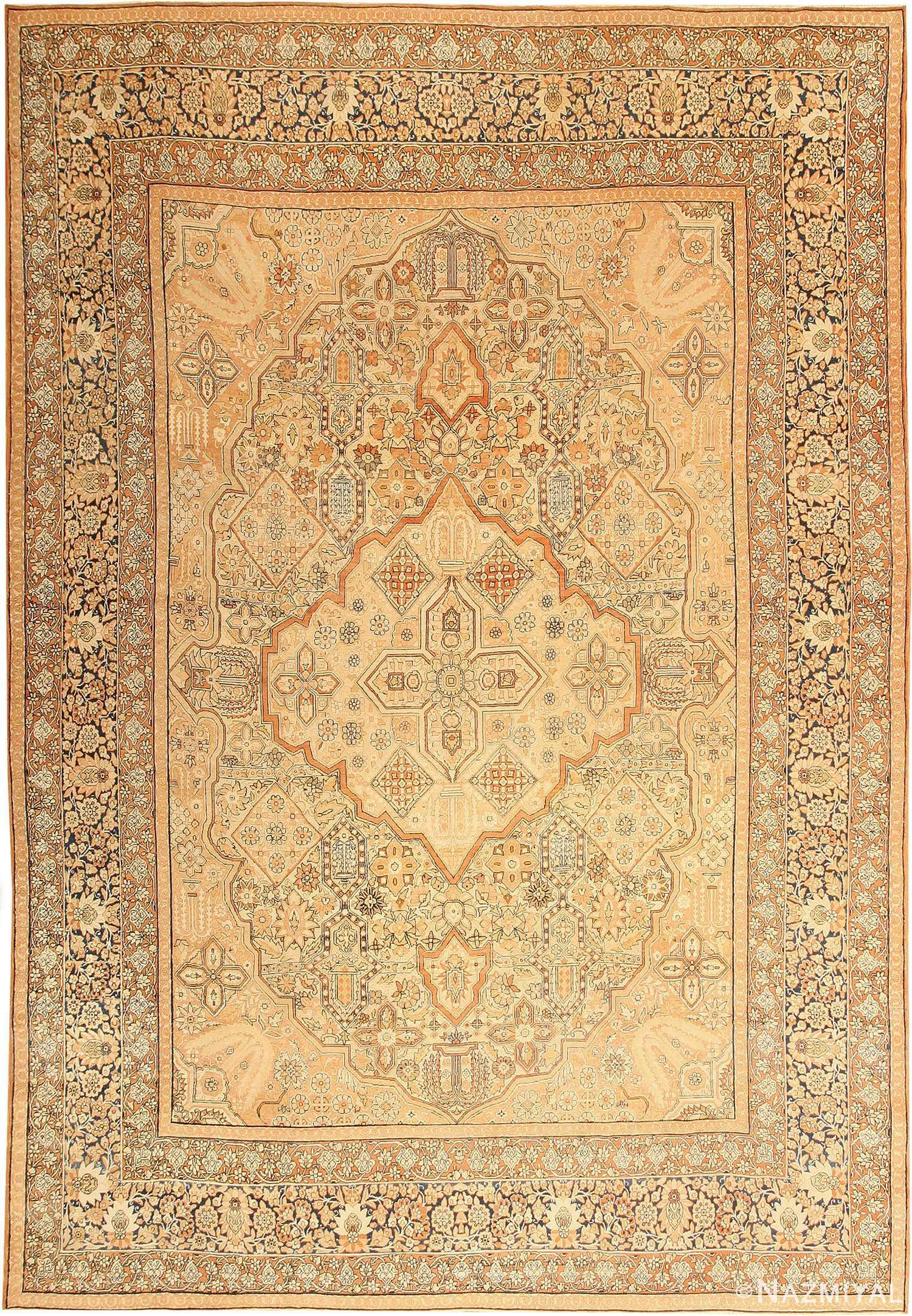 Antique Kerman Persian Rug 42611 Nazmiyal