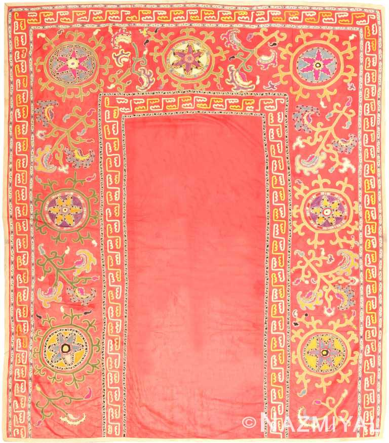 Antique Suzani Rug 2770 Nazmiyal