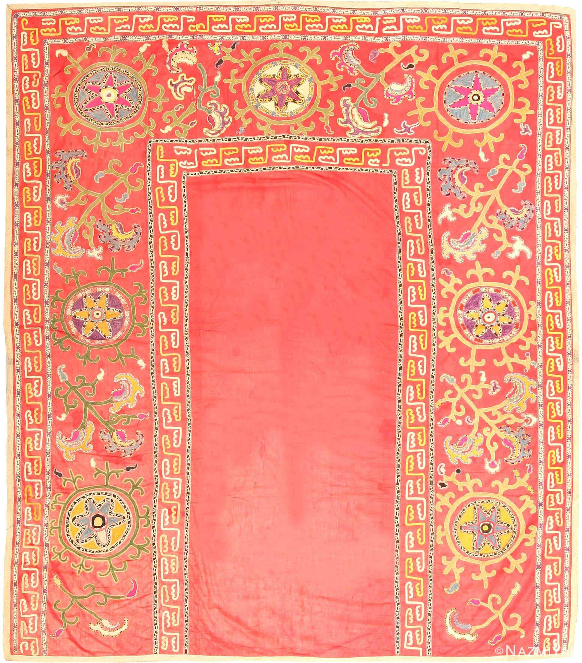 Antique Suzani Rug 2770 Nazmiyal