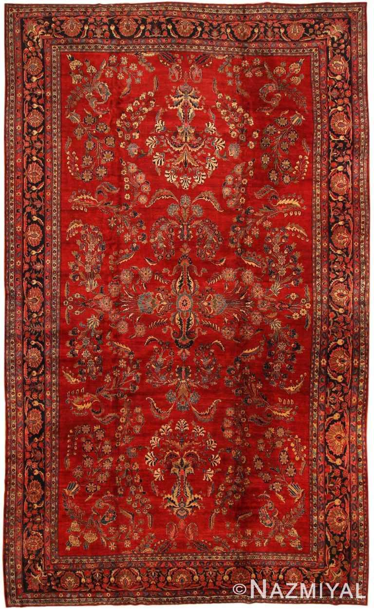 Antique Sarouk Persian Rug 43439 Detail/Large View