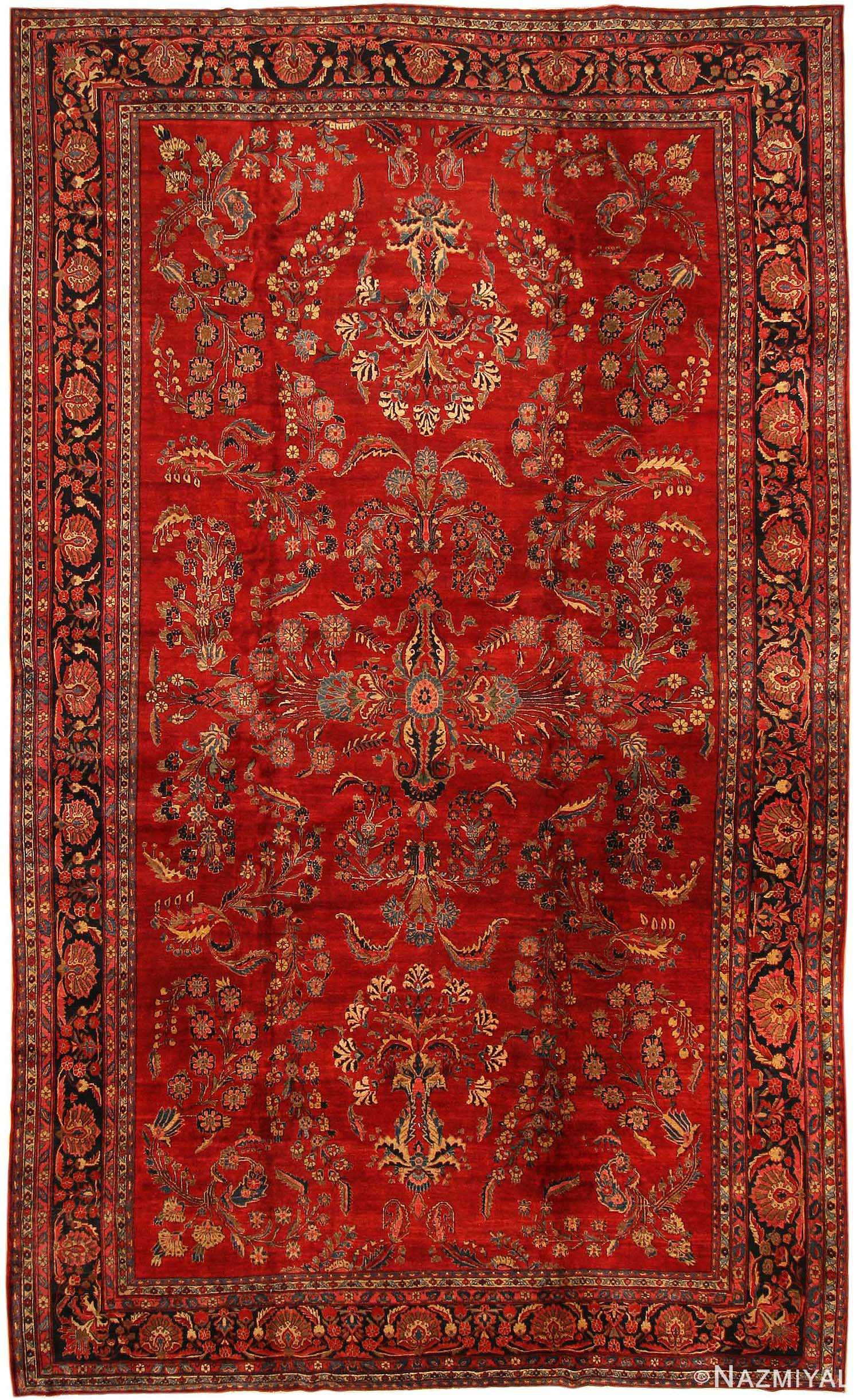 Antique Sarouk Persian Rug 43439
