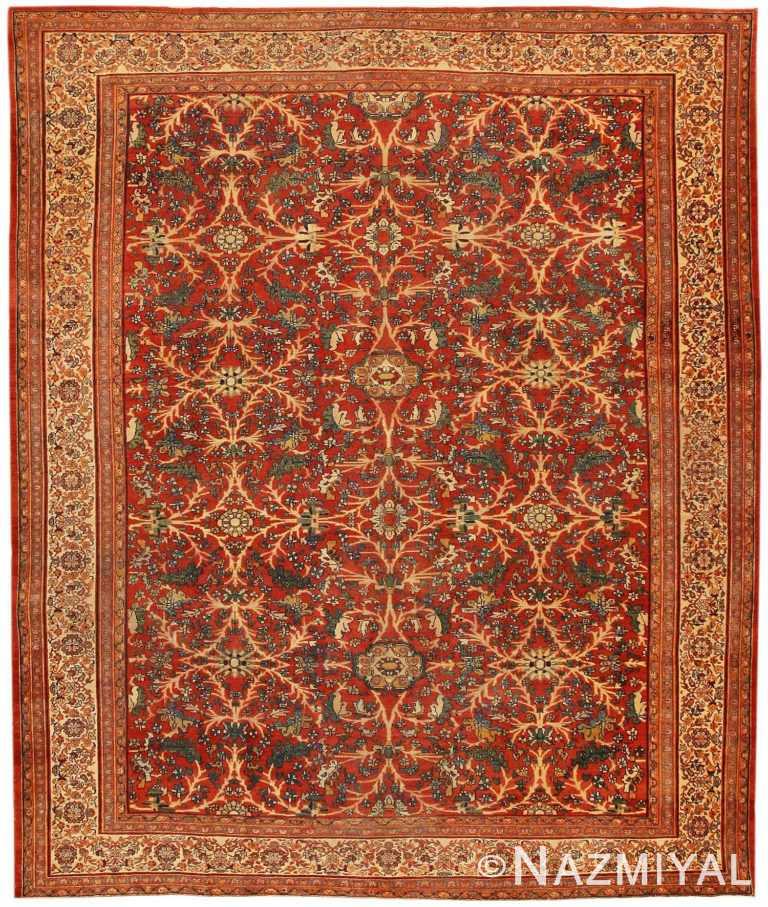 Antique Sarouk Farahan Persian Rug 43447 Nazmiyal