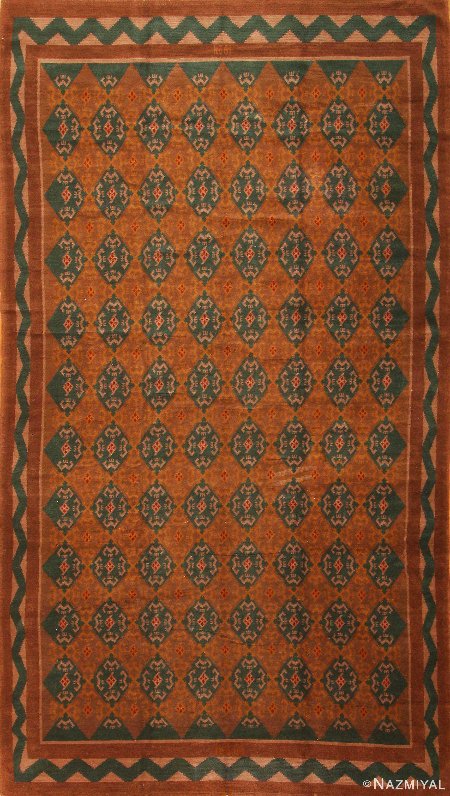 Art Deco Scandinavian Swedish Carpet 3367 Nazmiyal