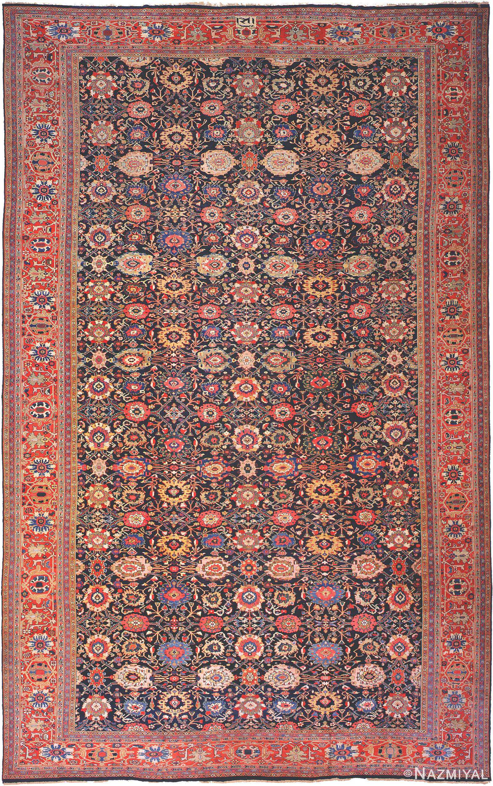 Antique Sultanabad Persian Carpet 3019 Nazmiyal