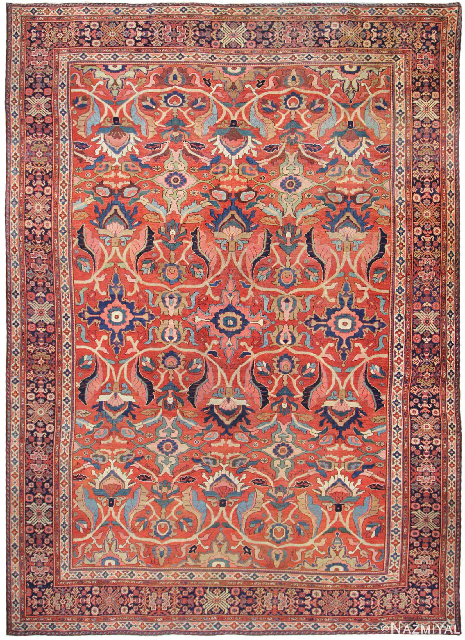 Antique Sultanabad Persian Rug 44175 Nazmiyal