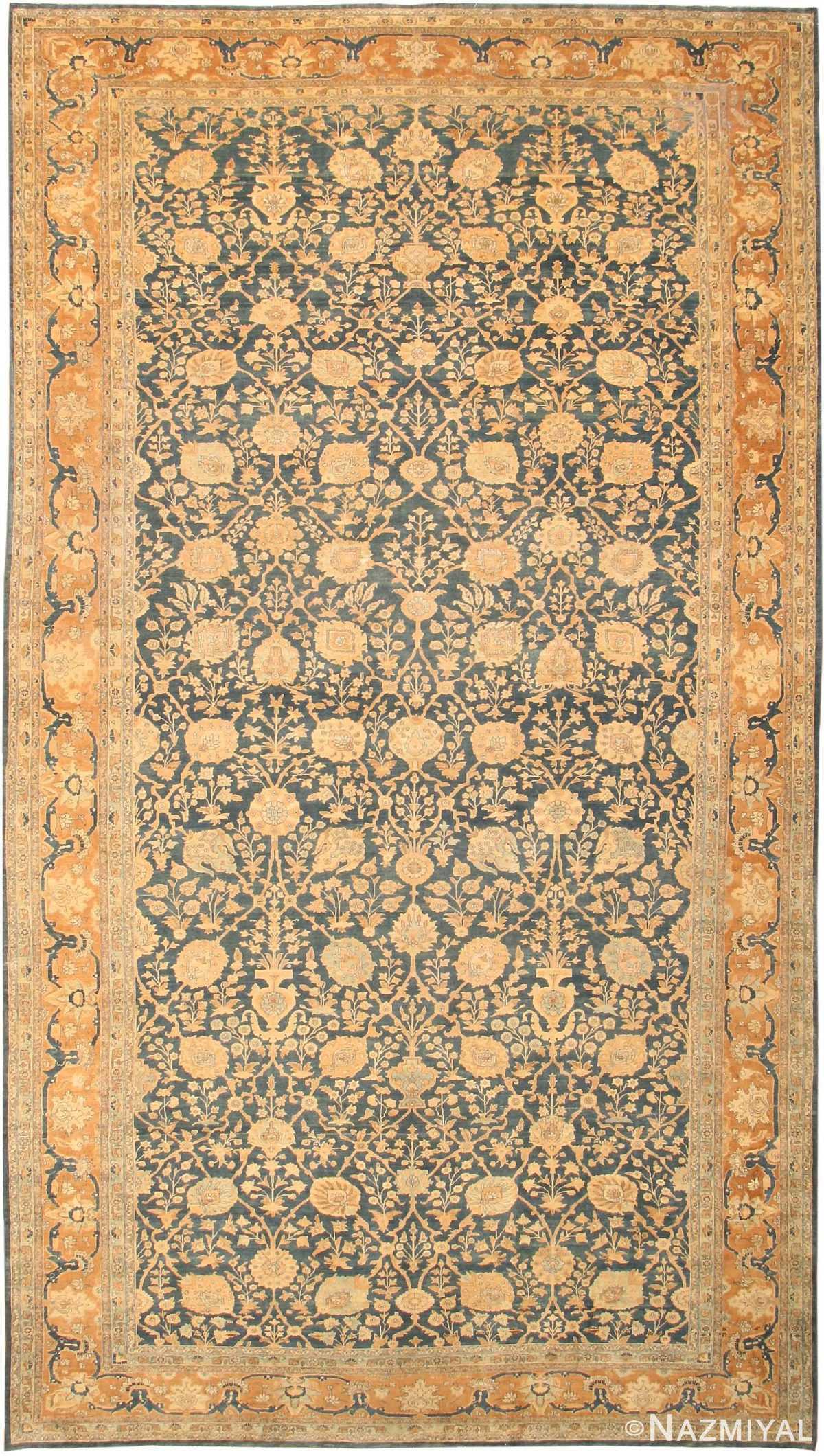 Large Antique Tabriz Persian Rug 43098 by Nazmiyal