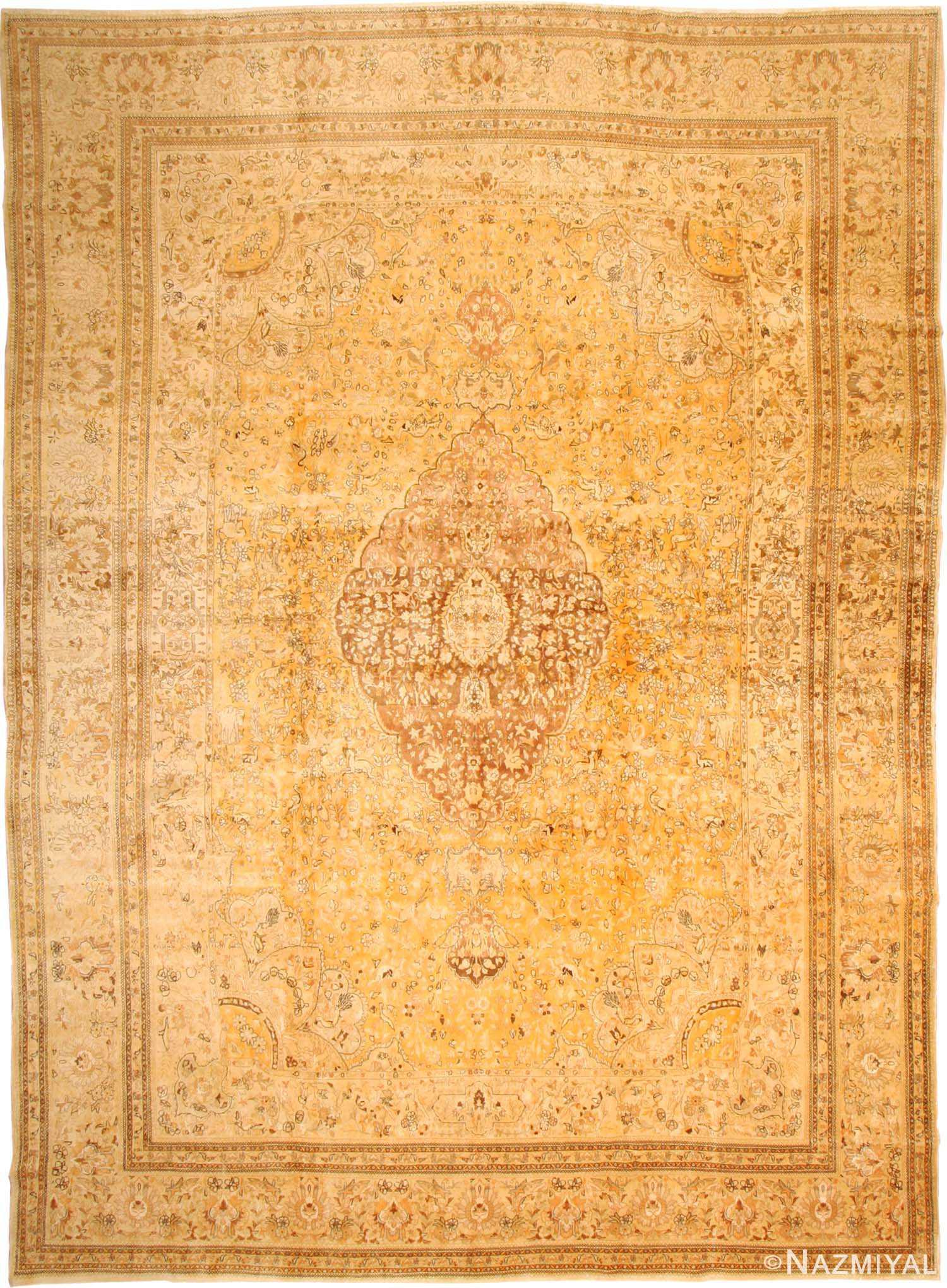Antique Tabriz Persian Rug 3351