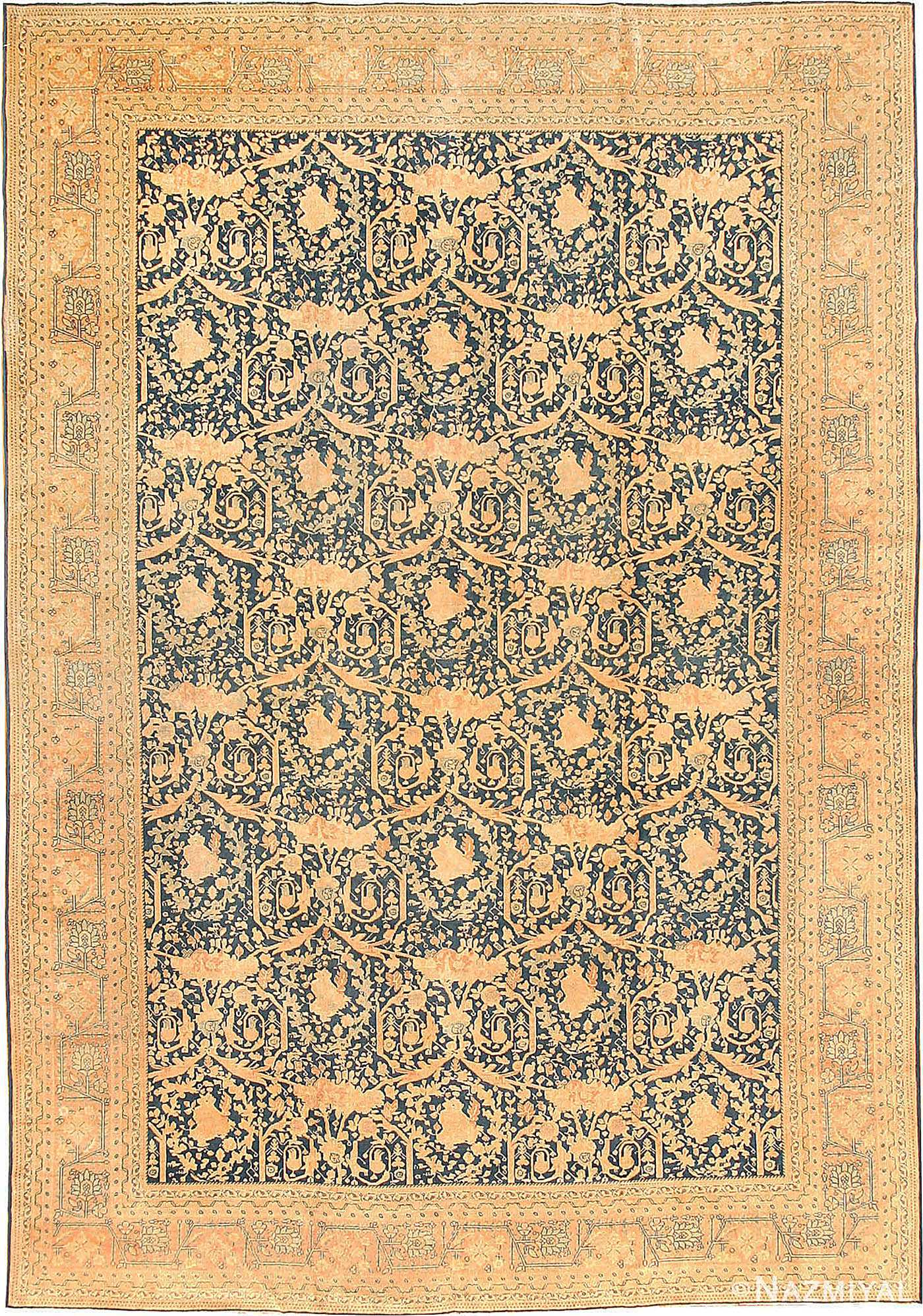 Antique Tabriz Persian Rug 40093 Nazmiyal