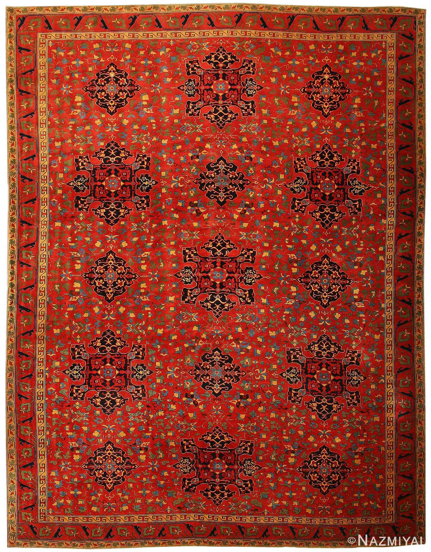 Best Saturated Red Oushak from Nazmiyal