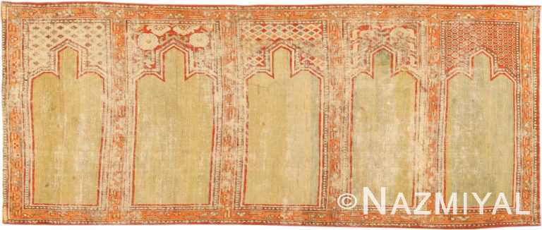 Antique 18th Century Silk Yarkand Oriental Rug 2975 Nazmiyal