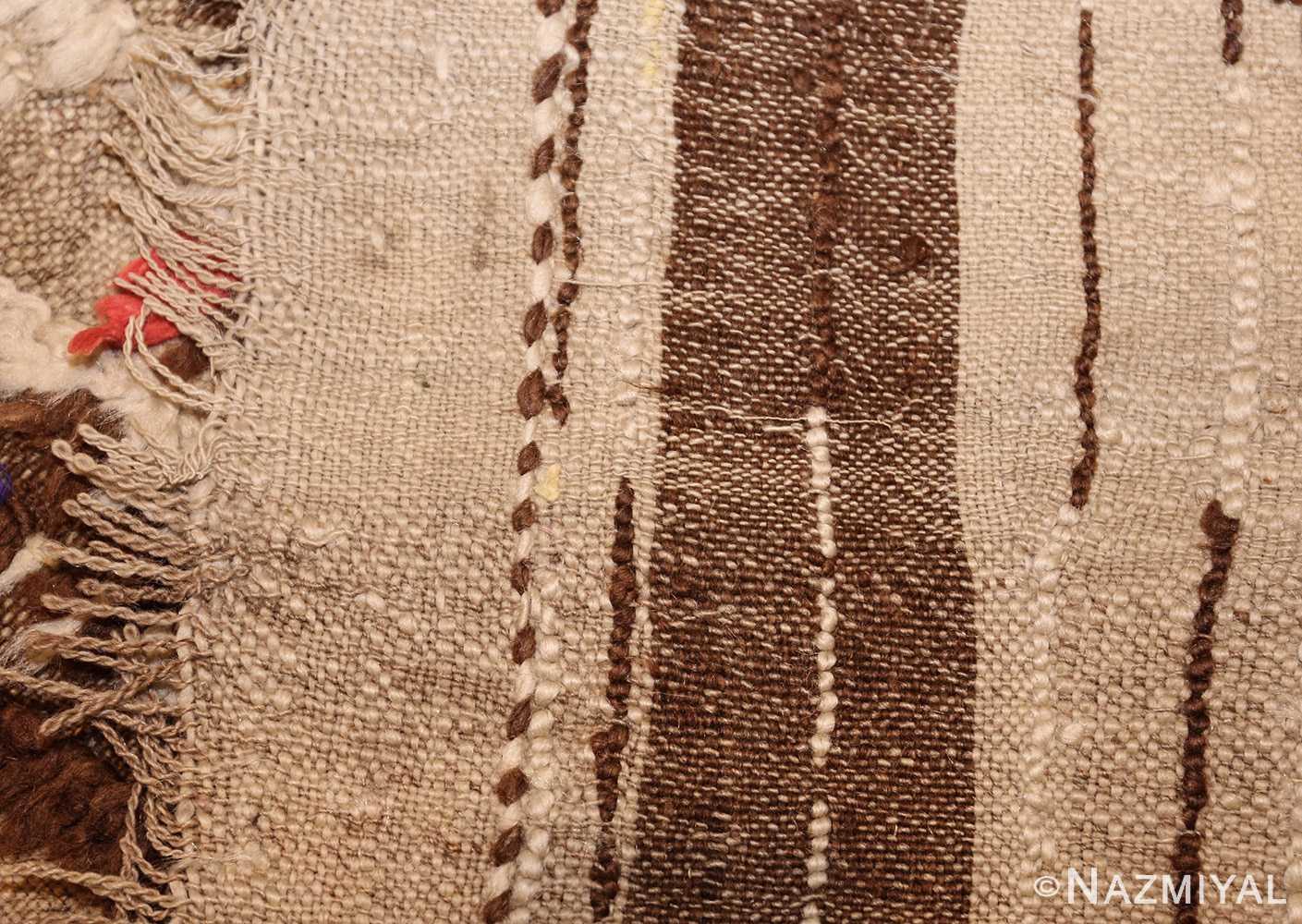 mid century moroccan rug 45010 weave Nazmiyal