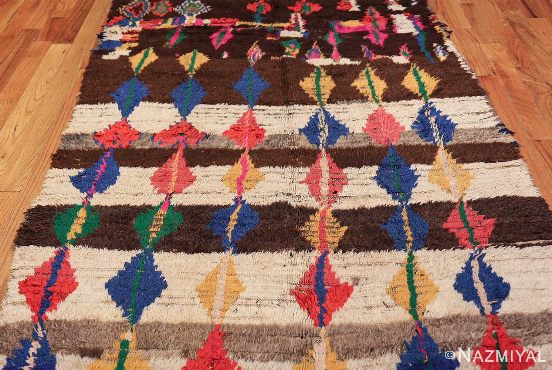 mid century vintage folk art moroccan rug 45013 field Nazmiyal
