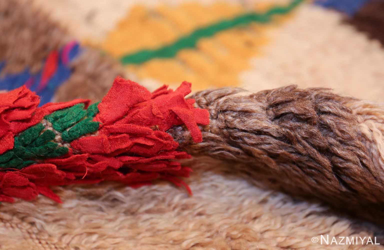 mid century vintage folk art moroccan rug 45013 pile Nazmiyal