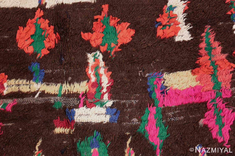 mid century vintage folk art moroccan rug 45013 pink Nazmiyal