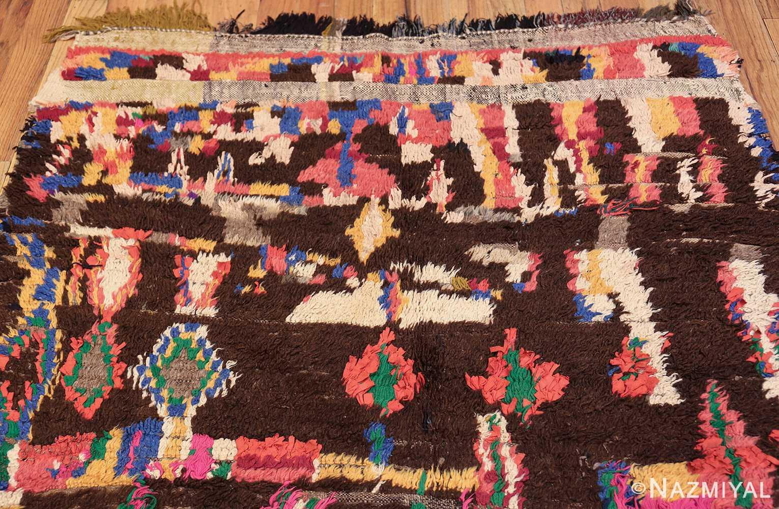 mid century vintage folk art moroccan rug 45013 top Nazmiyal