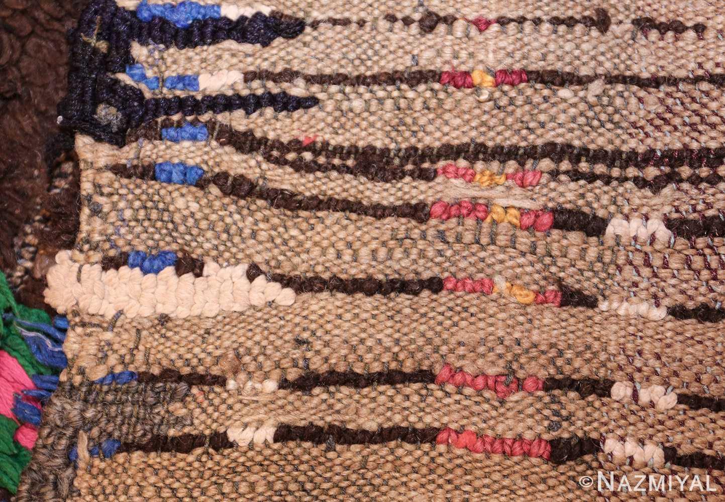 mid century vintage folk art moroccan rug 45013 weave Nazmiyal