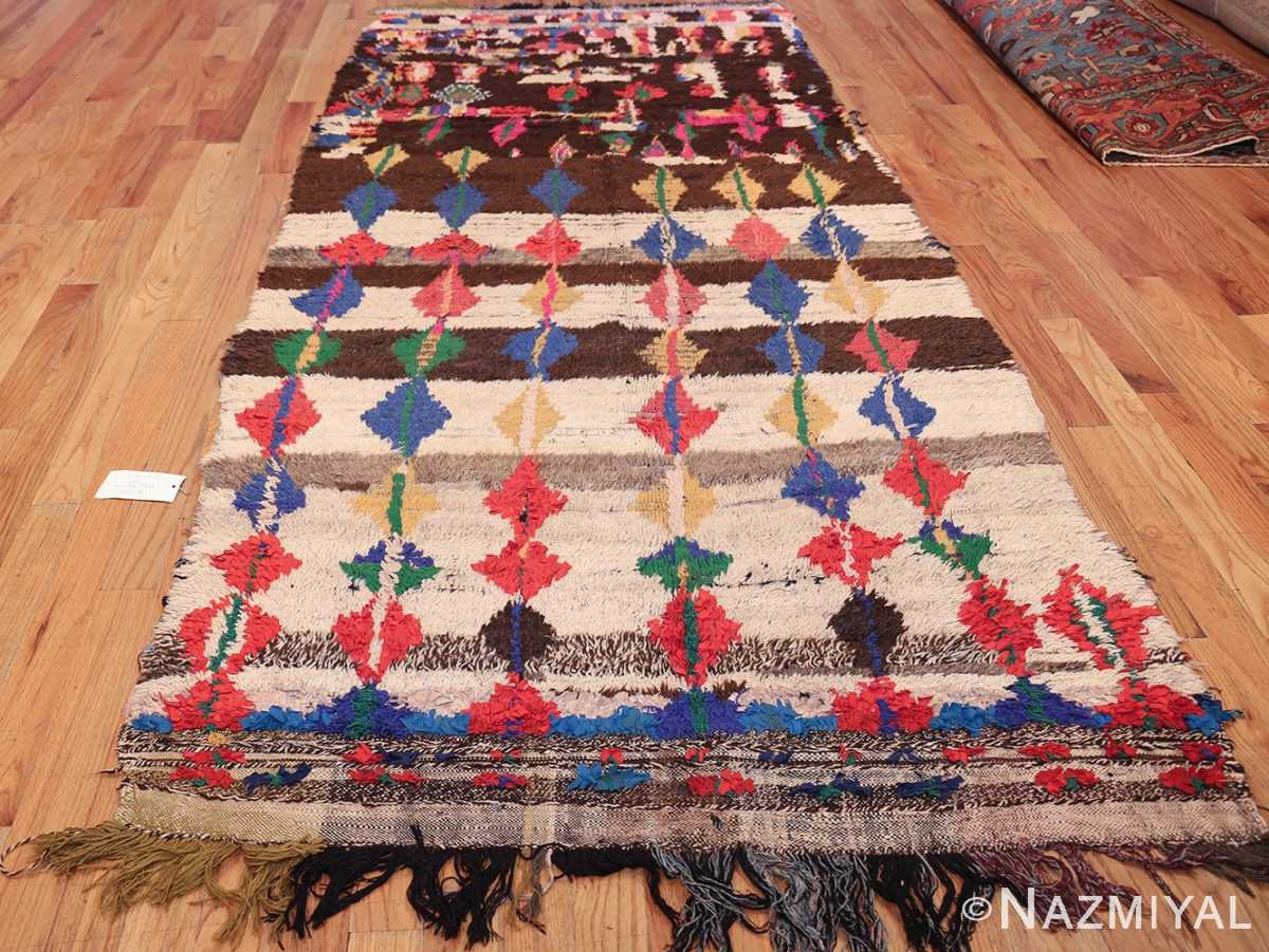 mid century vintage folk art moroccan rug 45013 whole Nazmiyal