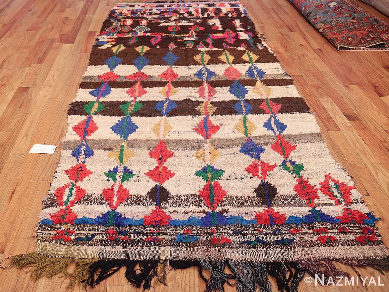 mid century vintage folk art moroccan rug 45013 whole Nazmiyal