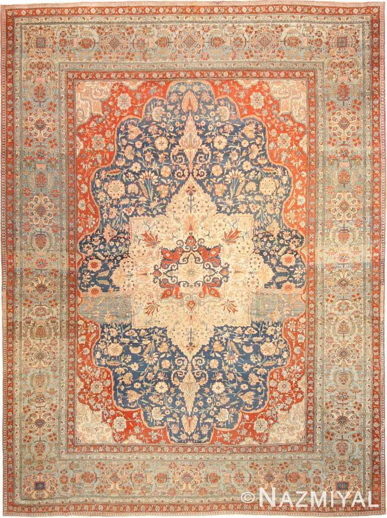 Antique Kashan Persian Rug 42624 Nazmiyal
