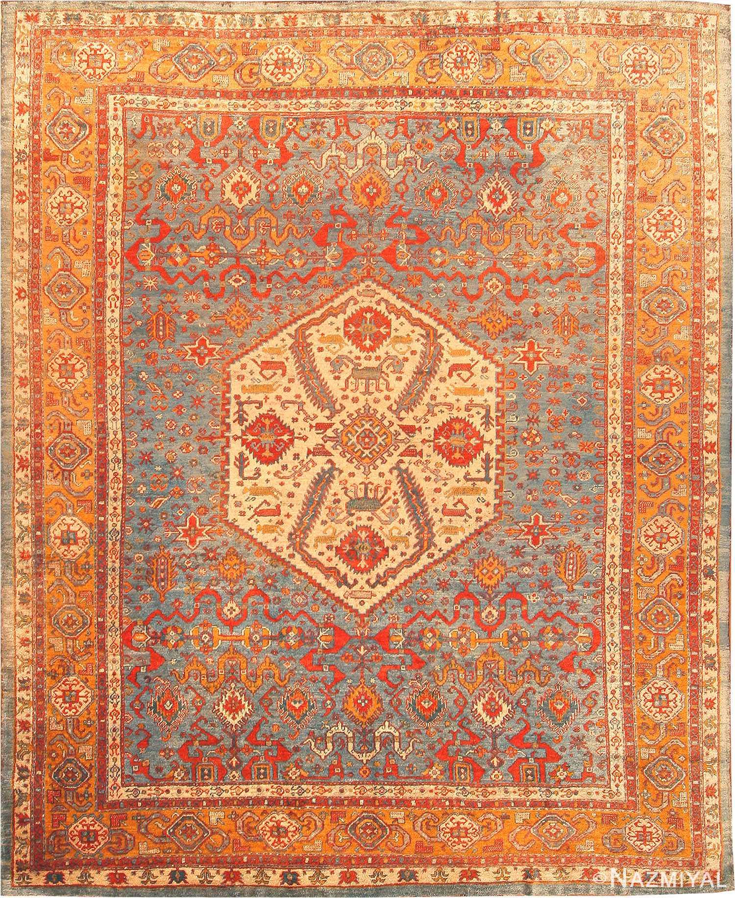 Turkish Ground Rug: Antique Oushak Rug From Turkey 42687 By Nazmiyal