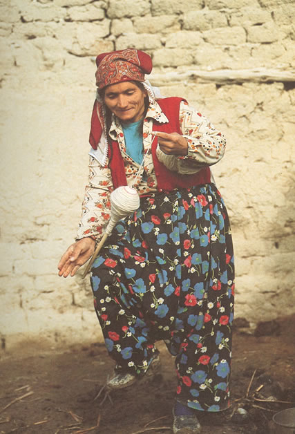 Spinning Wool for Rugs by Nazmiyal